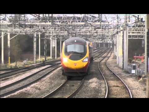Pendolino's at Speed - Rugeley Trent Valley