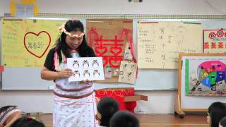 花蓮見晴沉浸式族語幼兒園拍攝-用圖卡教數字