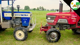Tractor vs Tractor : Swaraj 744 FE vs Mahindra Arjun 555/ Tractor Tochan & Pulling / Come To Village