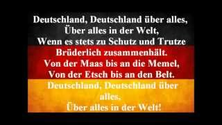 German National Anthem - Deutschland Uber Alles (Lyrics)