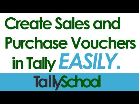Creating Sales and Purchase Vouchers in Tally