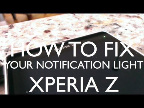 how to set notification light on xperia z