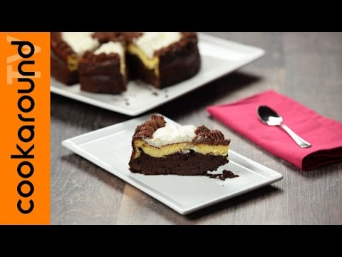 cheesecake con base brownies - la videoricetta