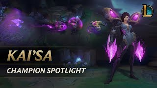 Video Kai'Sa Champion Spotlight | Gameplay - League of Legends MP3, 3GP, MP4, WEBM, AVI, FLV Juni 2018