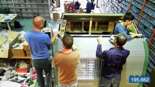 World's largest LEGO brick caravan Time-lapse - Motorhome & Caravan Show 2015