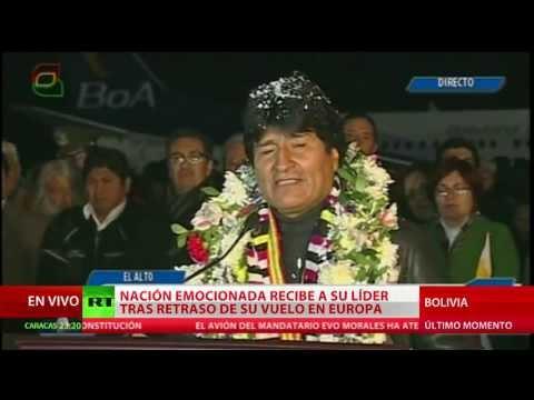 Discurso de Evo Morales en el aeropuerto de El Alto tras aterrizar en Bolivia
