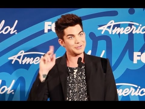 "ADAM LAMBERT INTERVIEW- ""AMERICAN IDOL"" FINALE TALKS ANGIE MILLER DUET"