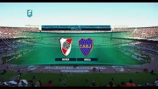 Fútbol en vivo. River - Boca. Fecha 24 de Torneo de Primera División 2015. FPT.