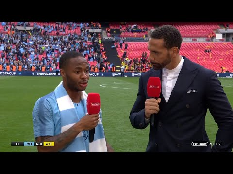 """you're Bantering Me!?"" Raheem Sterling Reacts Brilliantly To Fa Cup Hat-trick Stat!"