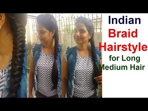 How to do INDIAN BRAID HAIRSTYLES for Long Hair  Most Easy Hairstyle Step by Step Tutorial 2018