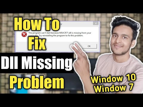 how to fix dll missing problem | dll file missing | dynamic link library | dll file missing window 7