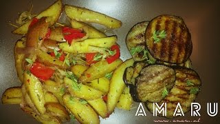 On this episode: Oven Roasted Roseval Potatoes With Grilled Aubergines Ingredients (TO YOUR OWN TASTE!): - Roseval...