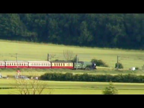 LNER 60163 'Tornado' storms Gamston Bank (Retford) with T...