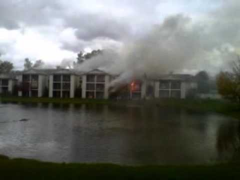 Video of the Clearview Apartment fire on Wednesday October 10th, 2012.