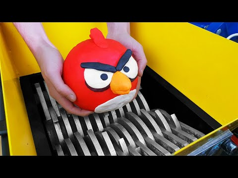 Experiment Shredding Machine Vs Angry Birds!