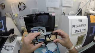 Watch as I make premium the new standard when I cut unbreakable non prescription Transitions signature 7 green lenses for a RayBan 4105 folding Wayfarer. Email any questions to freeprescriptionlenses@gmail.com