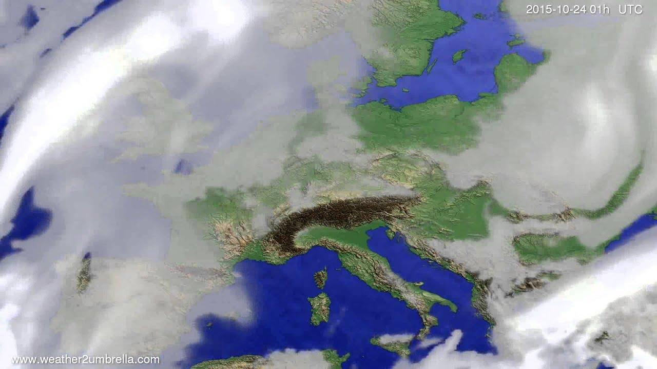 Cloud forecast Europe 2015-10-21