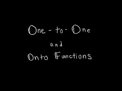 Discrete Math 2.3.2 One to One and Onto Functions