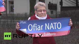 Warsaw (IN) United States  City pictures : Poland: Anti-US protest held outside American embassy in Warsaw