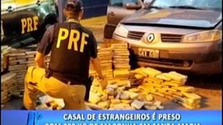 Casal de estrangeiros é preso com 200kg de maconha em Santa Maria. #JornaldaPampa