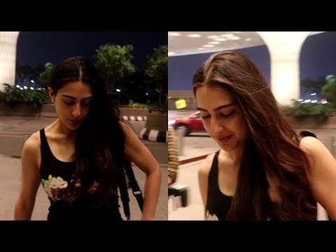 Kedarnath Actress Sara Ali Khan Spotted at Airport