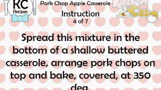 KC Pork Chop Apple Casserole YouTube video