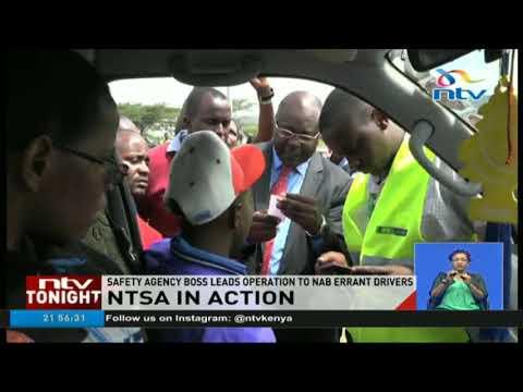 NTSA holds surprise operation to nub errant drivers on Mombasa road (видео)
