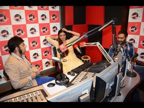 Ajay Devgan, Tabu At Fever 104 FM Studio To Promote Drishyam