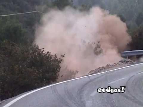Hiszpania: Al-Attiyah crash (Fiesta WRC) z zewnątrz