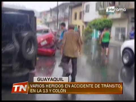 Varios heridos en accidente de tránsito en la 13 y Colón