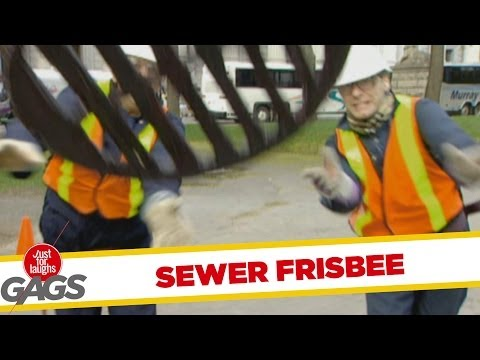 Sewer cover frisbee