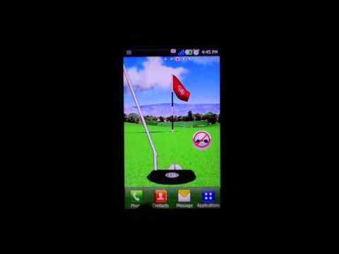 Video of Golf Putting Live Wallpaper