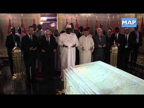 Le Président sénégalais Macky Sall visite le Mausolée Mohammed V
