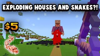 Minecraft's Exploding Houses And Snakes Will Cost You $5