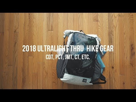 The Ultimate Thru Hiking Ultralight Backpacking Gear Video in 4K (8 POUNDS)