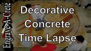 Decorative Concrete Staining & Engraving | Time Lapse