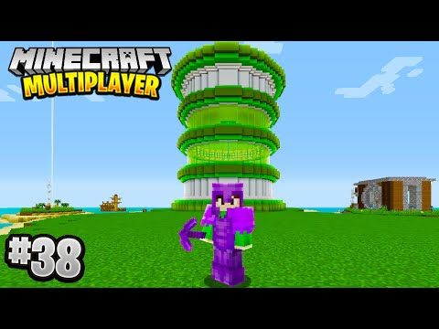 GIANT TOWER PROJECT in Minecraft Multiplayer Survival! (Episode 38)