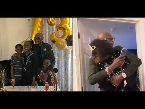 Tuface Idibia Flies 6,000 Miles To Surprise Daughter On Her 13th Birthday