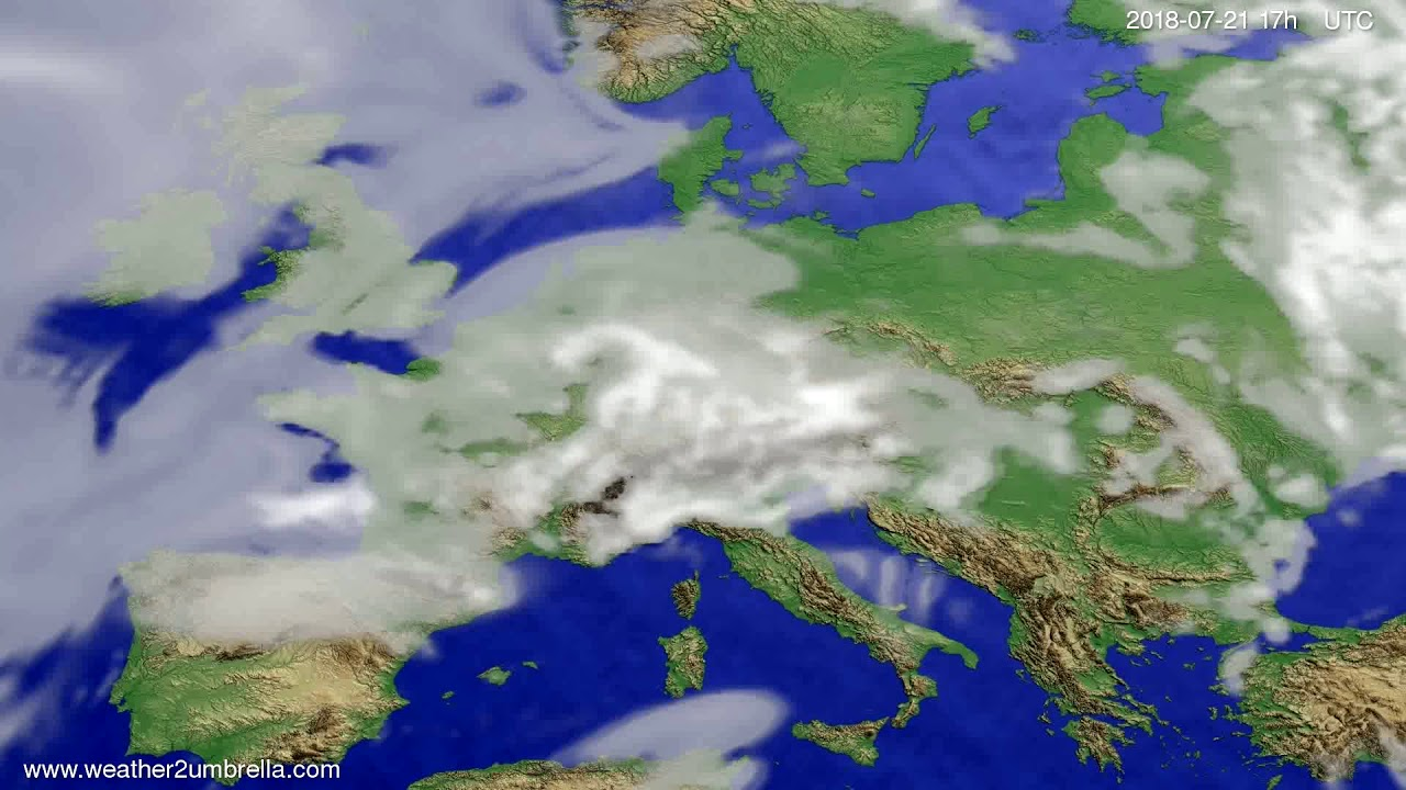 Cloud forecast Europe 2018-07-19