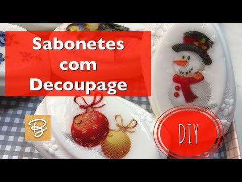 Sabonetes com Decoupage - DIY - Estúdio Brigit
