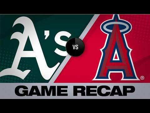 Video: Chapman drives in 6, leads rout of Angels | A's-Angels Game Highlights 6/30/19