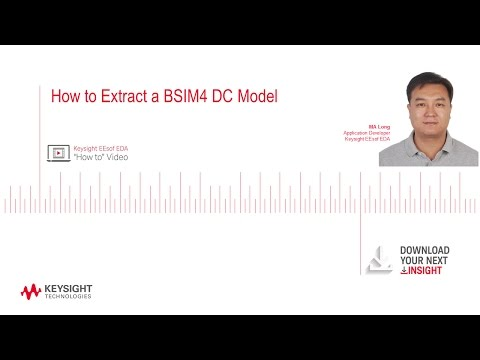 How to Extract a BSIM4 DC Model