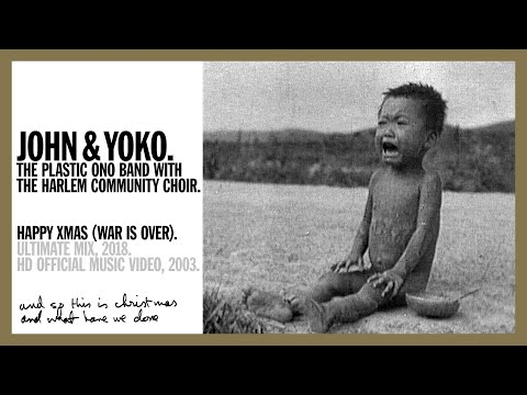 """happy xmas (war is over)"": john lennon e yoko ono"