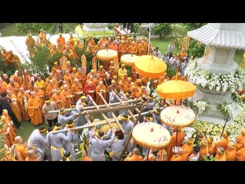 Lễ Cung Tống Kim Quan- Nhập Bảo Tháp Giác Linh Cố Đại Lão Hòa Thượng Thích Tắc An - Chùa Thiền Tôn 2 - Thời lượng: 20 phút.