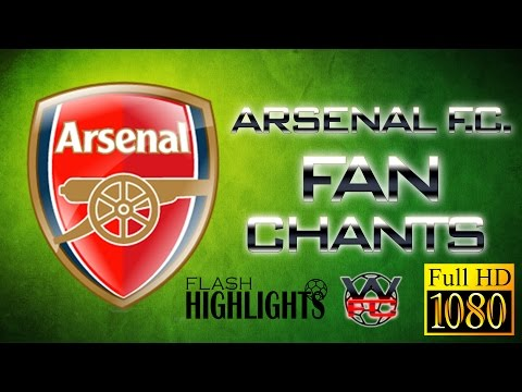 ARSENAL FANCHANTS With Lyrics - Best GUNNERS Songs Ever - LIVE | FULL HD |