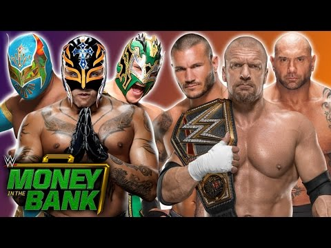 Rey Mysterio & Kalisto & Sin Cara Vs. Randy Orton & Triple H & Batista - WWE Money In The Bank 2017