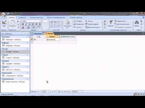 Створення  таблиць в Access