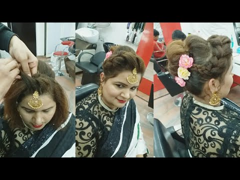 Hairstyles for short hair - Elegant hairstyle for short hair (step by step) in Hindi