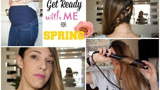 GRWM for Spring ! Make up, Coiffure et Première Tenue de Grossesse - YouTube