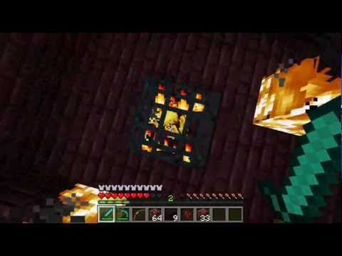 Minecraft 1.0.0 How to get blaze rods from the Nether   l   Ep.6
